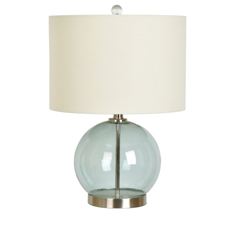 Matherne metal and glass 20 5 table lamp
