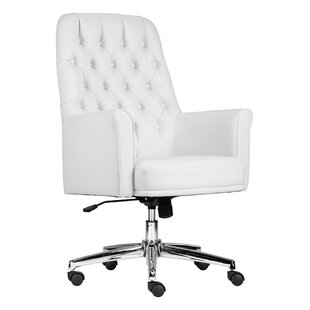 Cisbrough Mid Back Traditional Tufted Swivel Office Chair