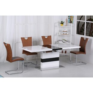 Virgina Extendable Dining Set With 4 Chairs