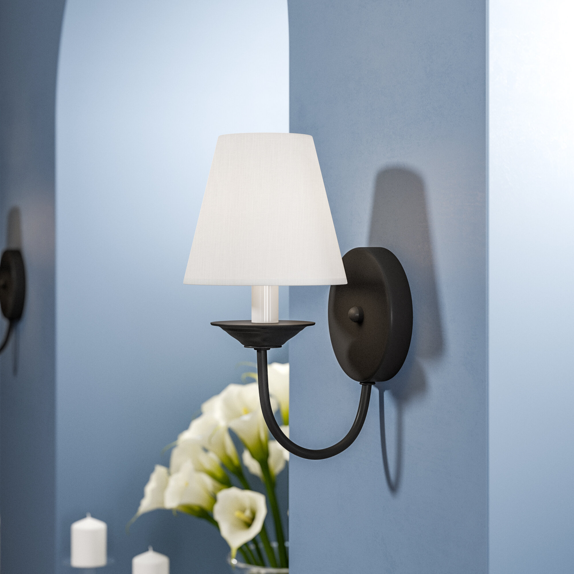 Andover Mills Whitaker 1 Light Wall Sconce Reviews Wayfair