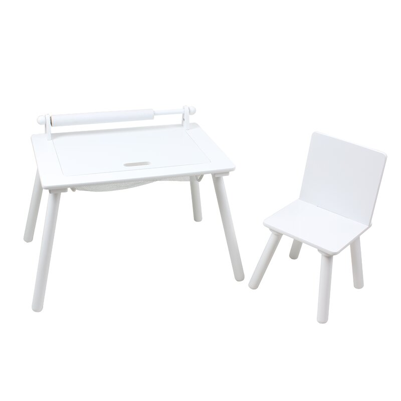 Harriet Bee 2 Tlg Kinder Tisch Und Stuhl Set Jaiden Wayfairde