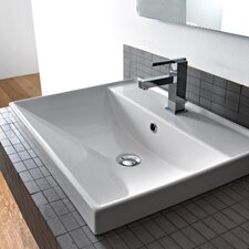Ml 24 Wall Mounted Bathroom Sink With Overflow