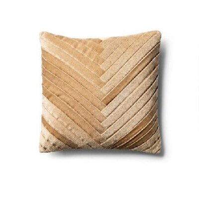 Brayden Studio Northwick Cotton Pillow Cover Color: Frosted Almond