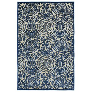 Covedale Machine Woven Blue Indoor/Outdoor Area Rug