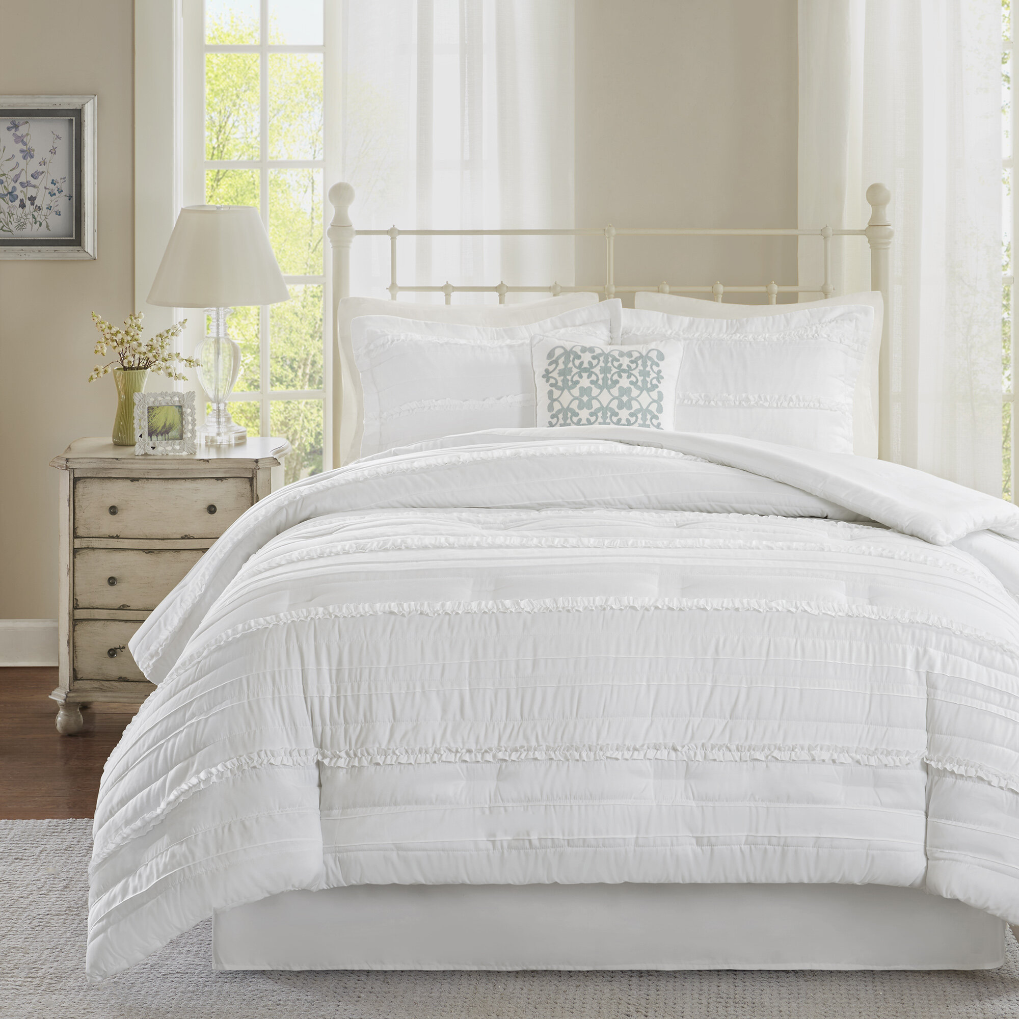 Lark Manor Bridget 5 Piece Comforter Set & Reviews | Wayfair