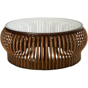 honey comb rattan coffee table