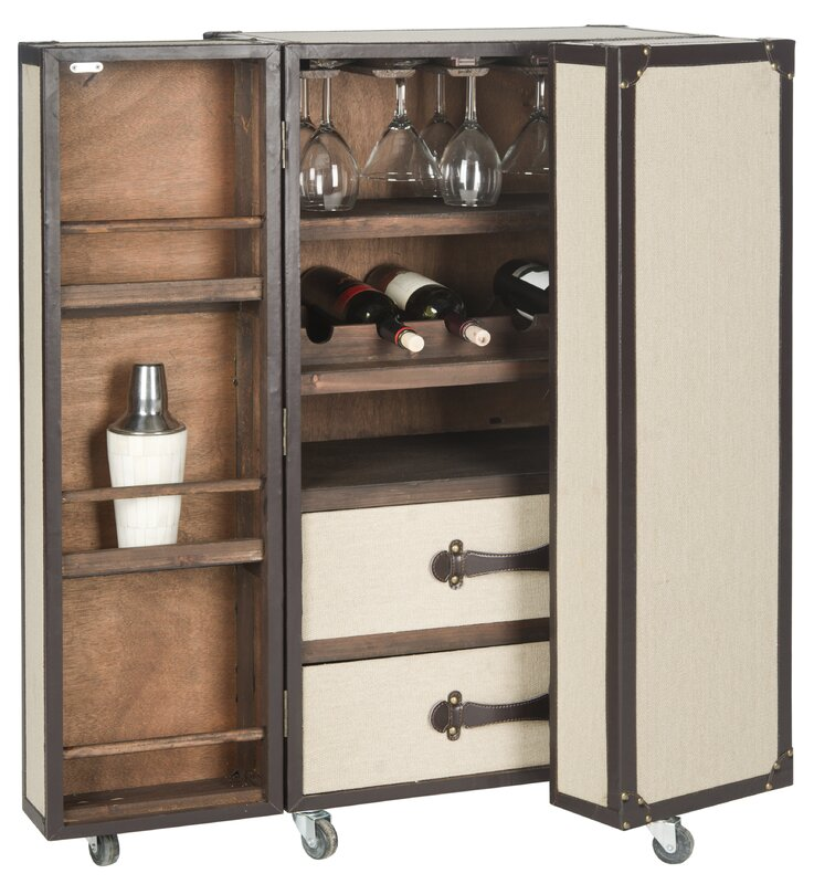 Safavieh Grayson Bar Cabinet With Wine Storage Amp Reviews