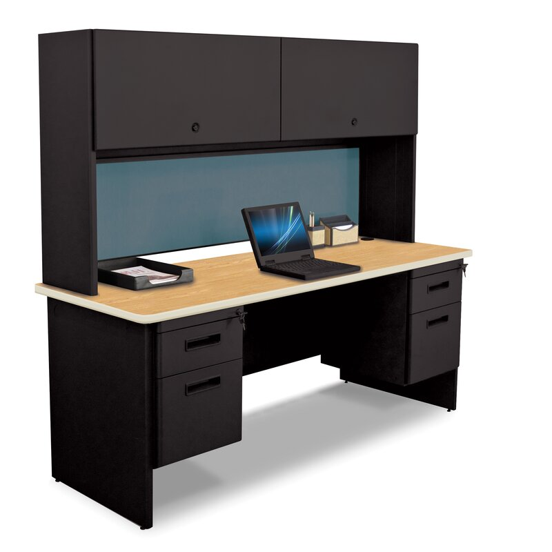 pronto flipper door cabinet and lock computer desk with hutch