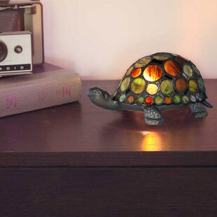 Sea turtle lamp wayfair turtle tiffany style stained glass 375 table lamp mozeypictures Gallery