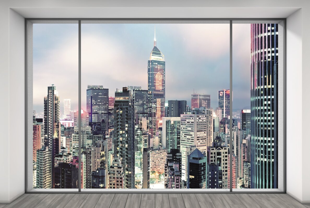 Cityscape wall mural gallery home wall decoration ideas wallpops komar suite 121 x 98 wall mural reviews wayfair komar suite 121 x 98 wall amipublicfo Gallery