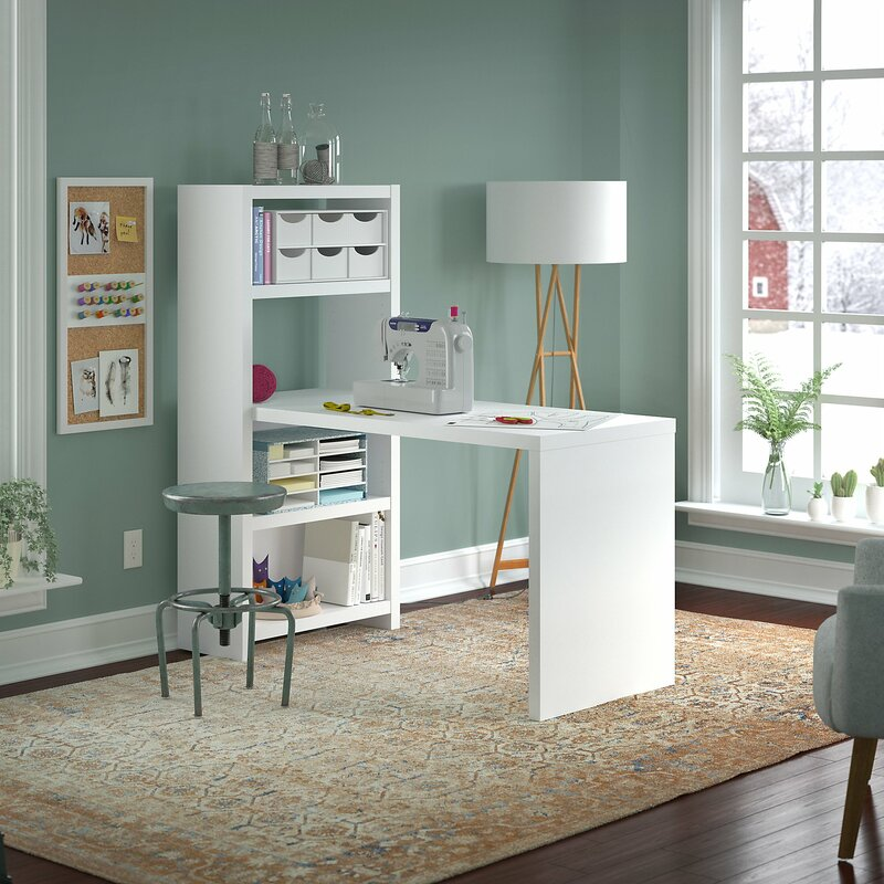Kathy Ireland Office By Bush Echo Wood Sewing Table