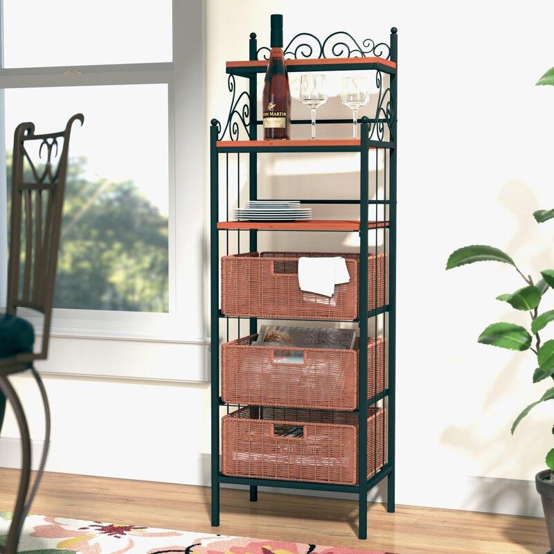 red barrel studio front street storage 3 drawer baker 39 s rack reviews. Black Bedroom Furniture Sets. Home Design Ideas