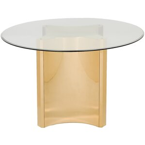 Reynaldo Glass Top Dining Table by Willa ..