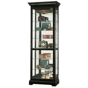 Chesterfield Lighted Curio Cabinet by How..