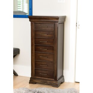 Galiena Free Standing Wood Jewelry Armoire With Mirror