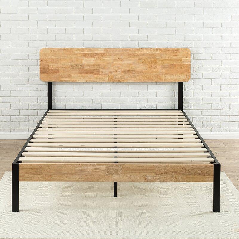 Ursula Metal/Wood Platform Bed