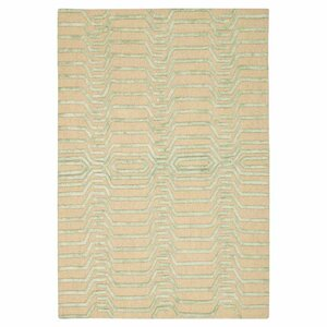 Jandreau Hand-Tufted Ivory/Green Area Rug