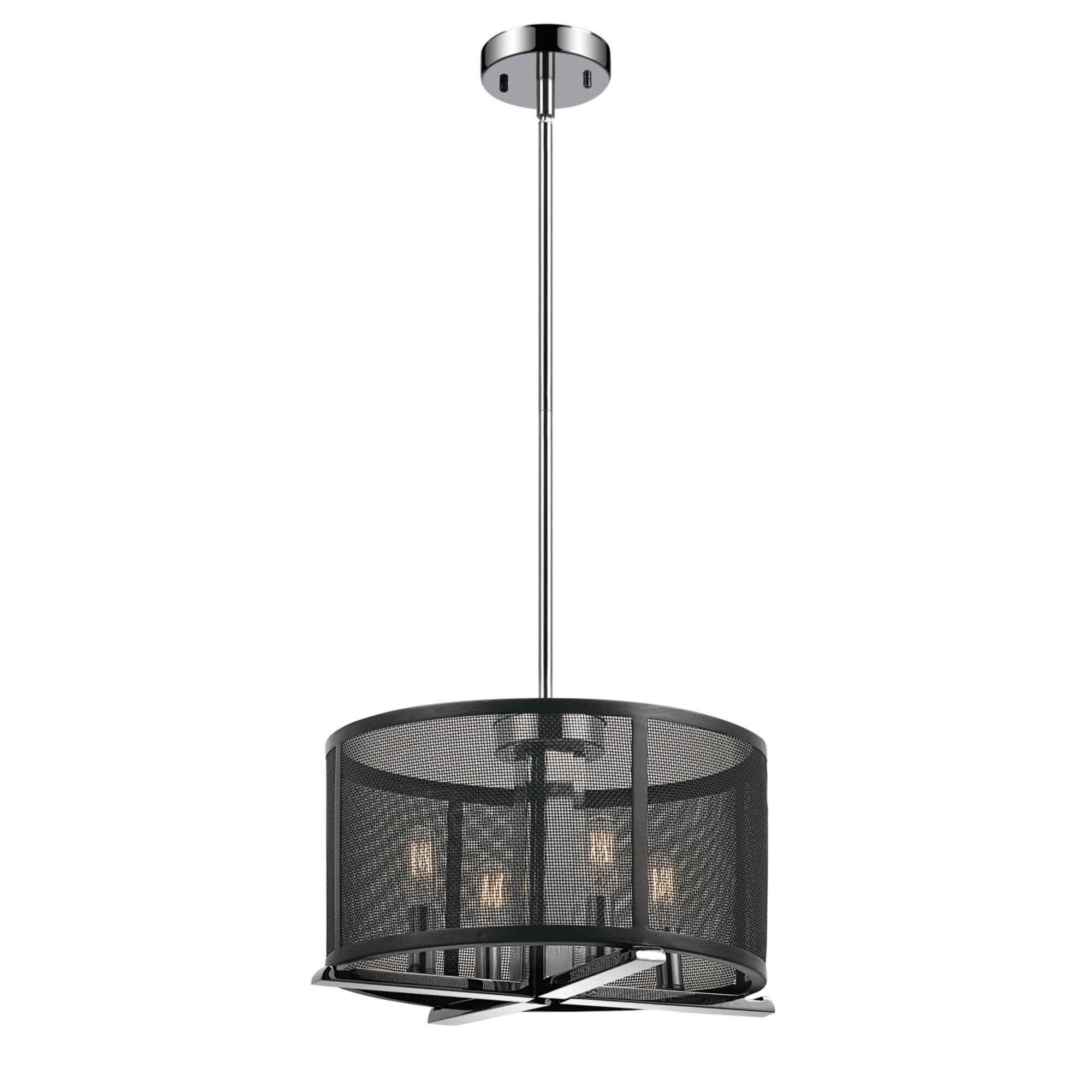 Novogratz x Globe Electric Aliya 4 Light Drum Chandelier & Reviews