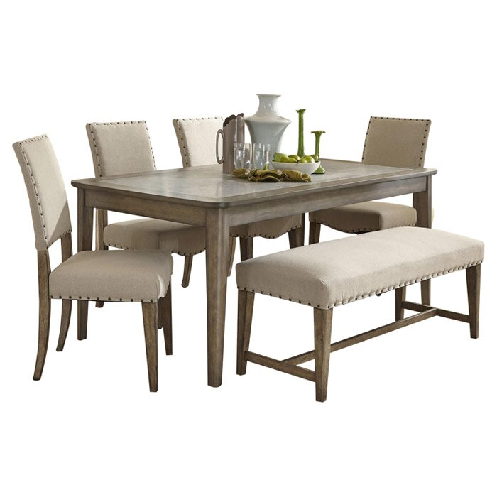 Charmant 6 Piece Reynolds Dining Set