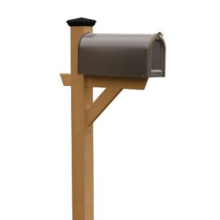 it is a cedar wood mailbox post, it designs a cross arm to support the mailbox