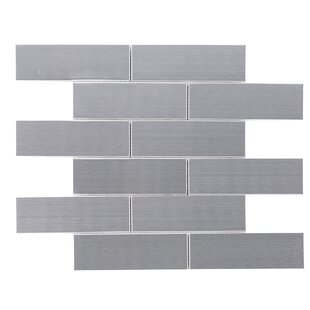 Brushed Metal Mosaic Tile In Gray