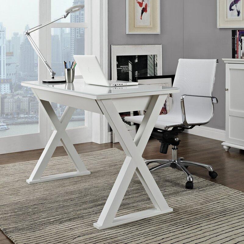 montclair executive writing desk black white
