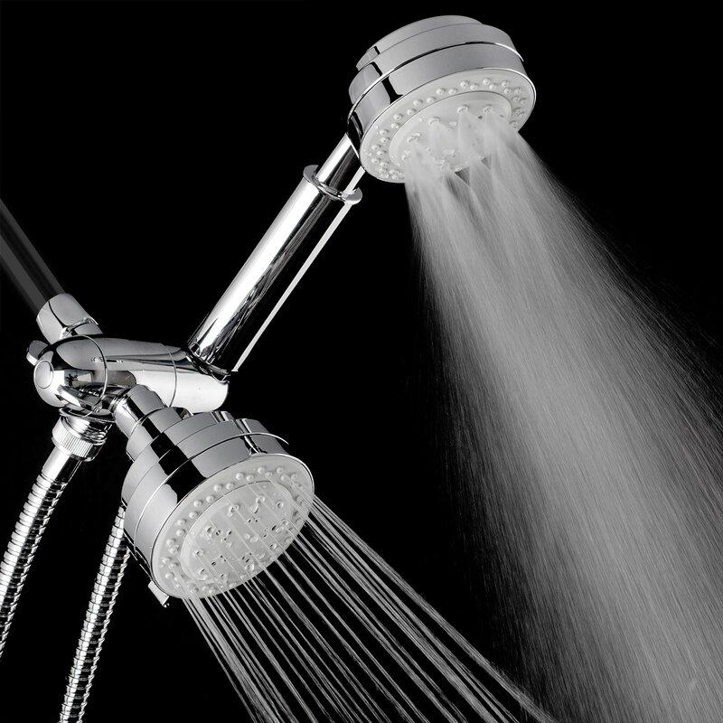 25 gpm 2 piece shower head and handheld set