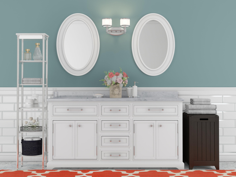 Three Posts Bergin 60 W Double Sink Bathroom Vanity Set With Mirror Reviews