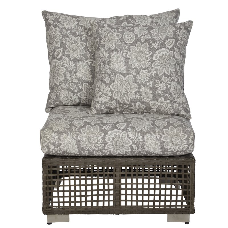 Mcmanis Outdoor Open Weave Rattan Patio Chair with Cushion  sc 1 st  Wayfair & Ivy Bronx Mcmanis Outdoor Open Weave Rattan Patio Chair with Cushion ...