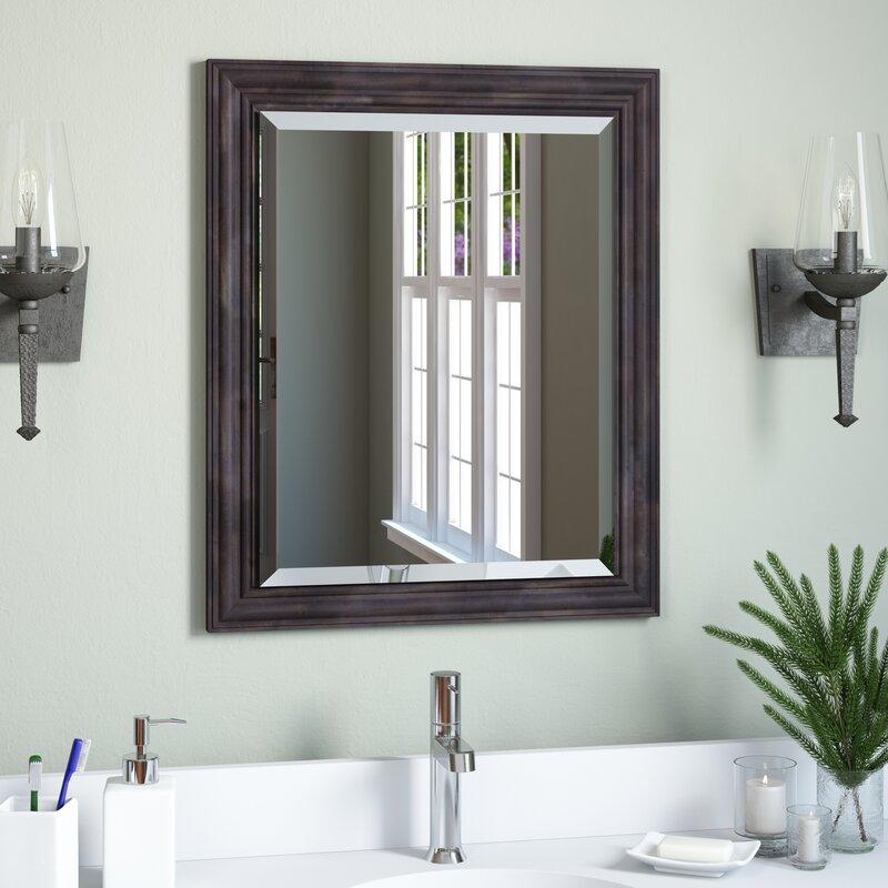 Loon Peak Narrow Rustic Pine Bathroom Mirror Reviews