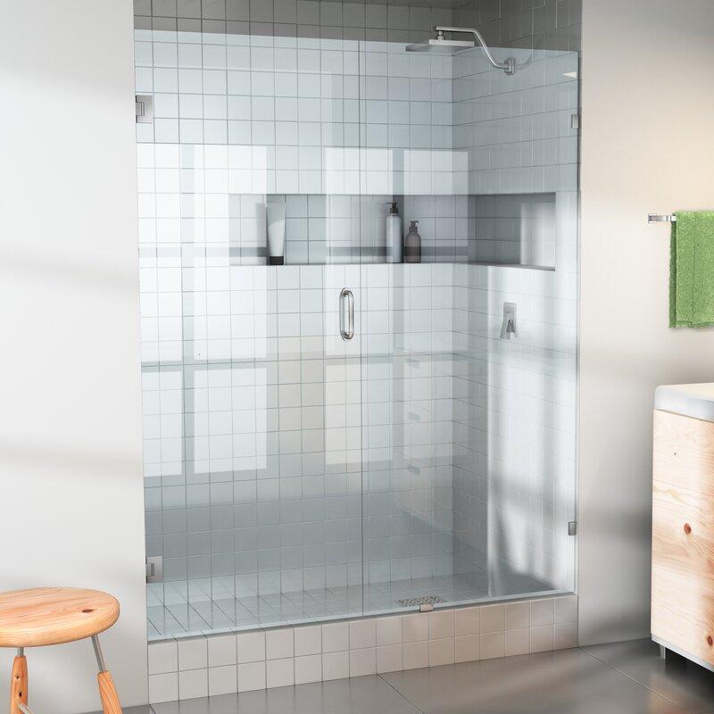 Glass Warehouse 65 X 78 Hinged Frameless Shower Door Wayfair