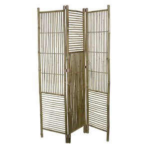 76 5 X 53 5 Foldable Bamboo 3 Panel Room Divider