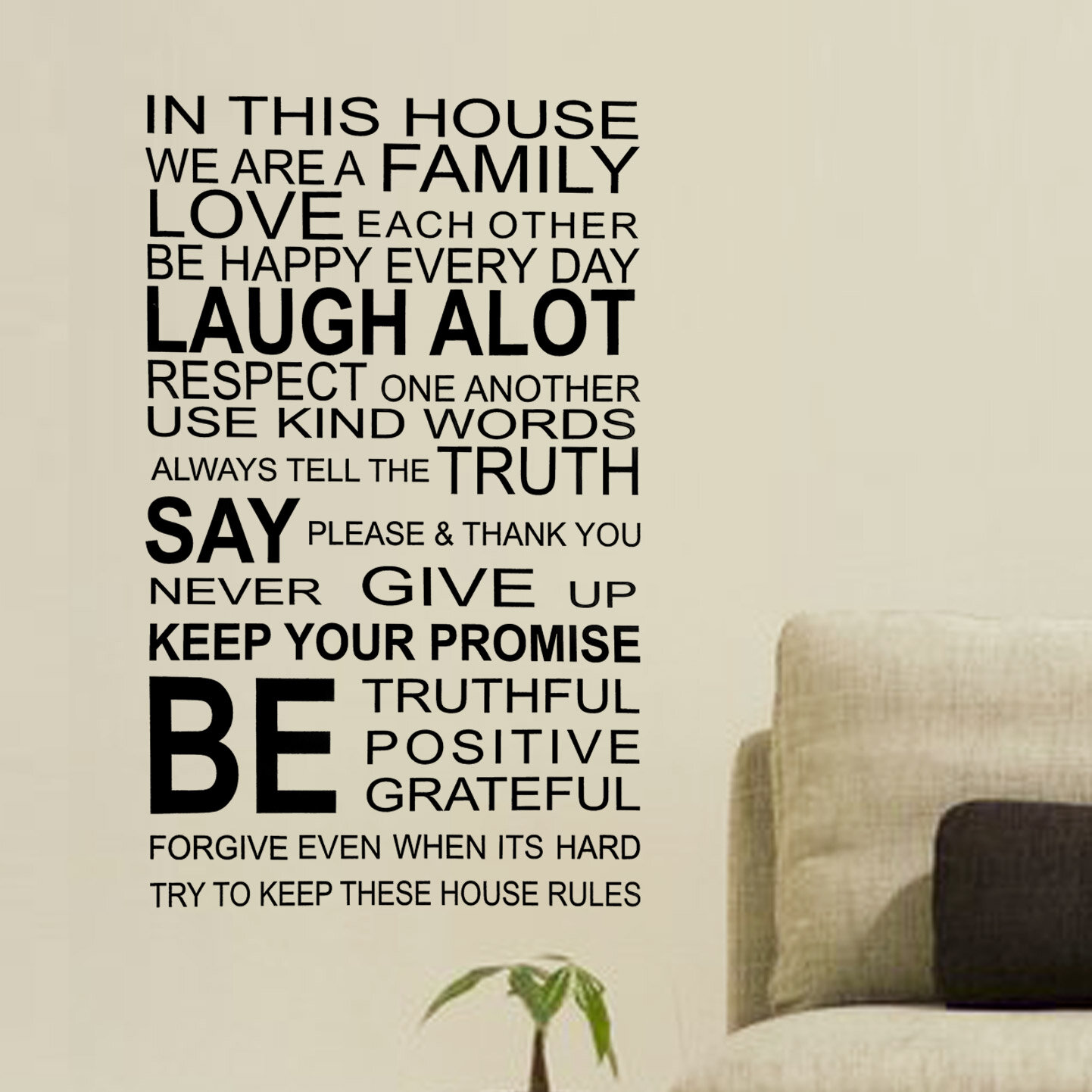 Walplus Family Rules Quote Wall Decal Reviews Wayfair