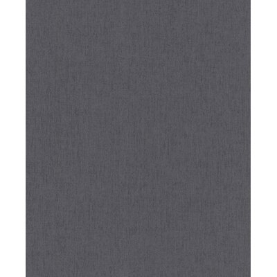 Wrought Studio Ericson 33' x 20 Solid Calico Wallpaper Color: Charcoal