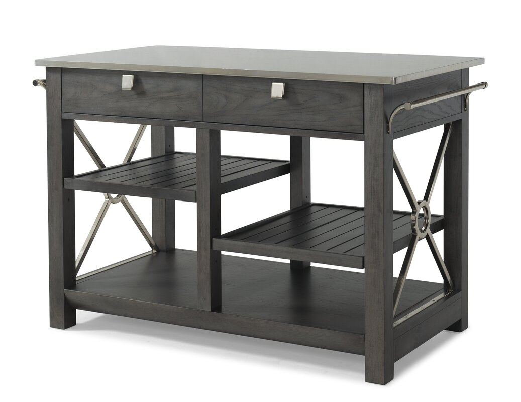 Beautiful Music City U0027Here Comes Temptationu0027 Kitchen Island With Stainless Steel Top