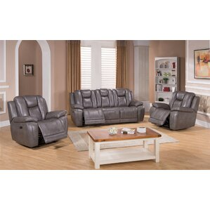 Fae 3 Piece Leather Living Room Set by Red Barrel Studio
