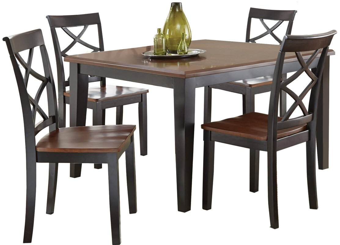 Charlton home rani dining table reviews wayfair for Table 85 restaurant menu