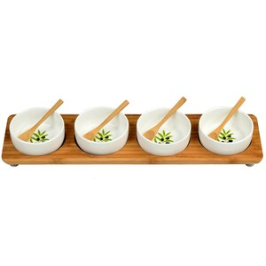 Bamboo Condiment Server