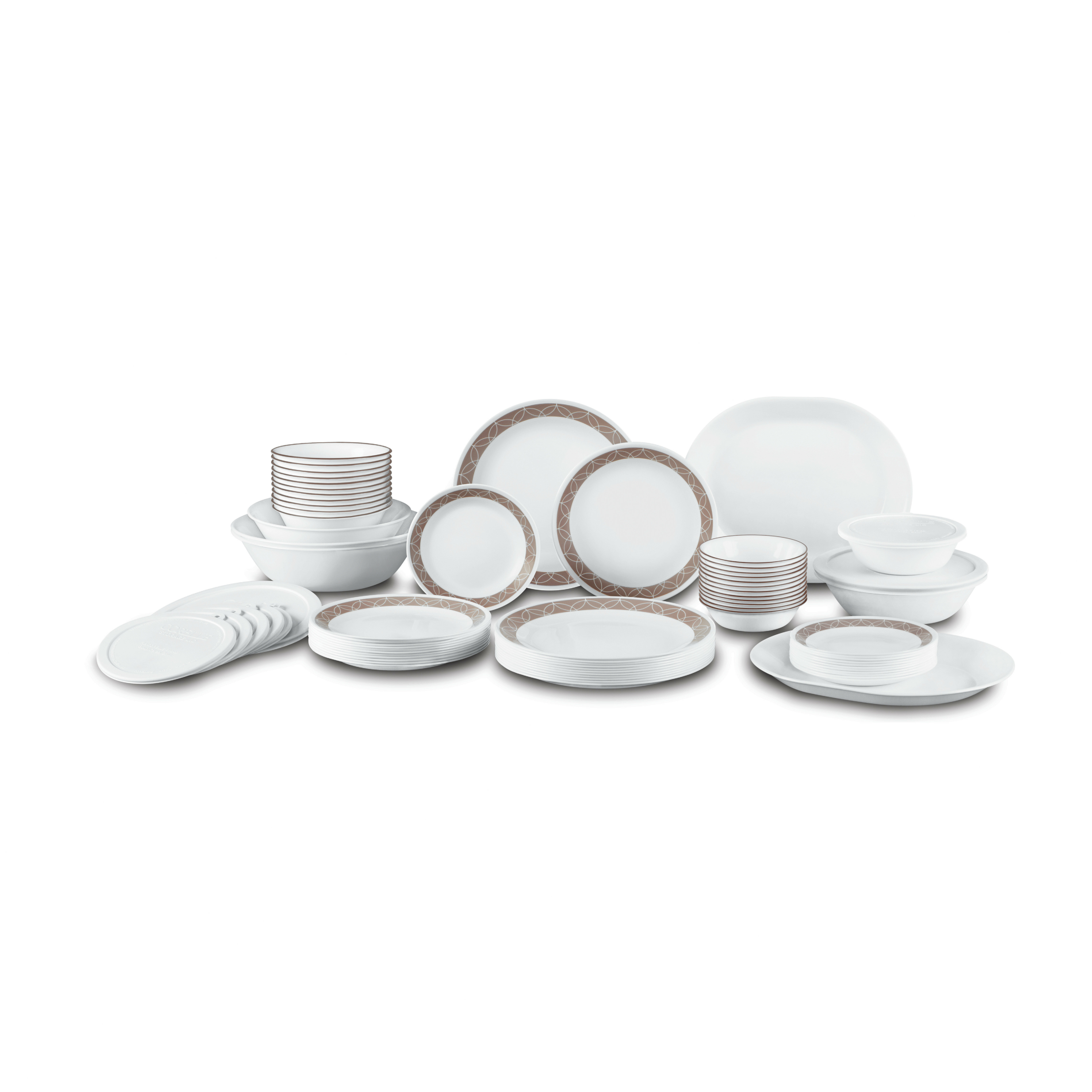 Corelle Sand Sketch Living Ware 74 Piece Dinnerware Set Service for 12 u0026 Reviews | Wayfair  sc 1 st  Wayfair & Corelle Sand Sketch Living Ware 74 Piece Dinnerware Set Service for ...