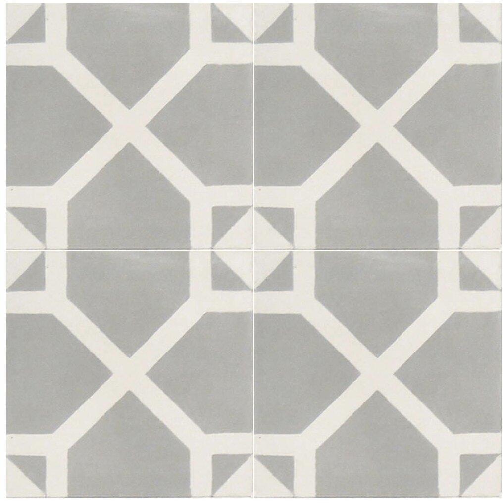 Amoud 8 x 8 handmade cement tile reviews allmodern for Handmade cement tiles