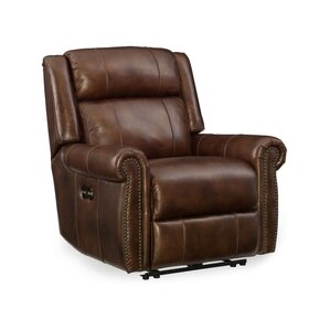 esme leather power recliner with power headrest - Electric Recliner Chairs