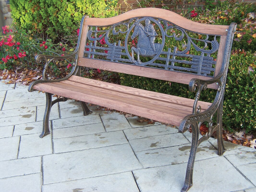 Perfect Horse Wood And Cast Iron Park Bench