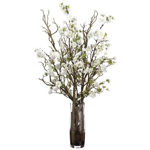 Cherry Blossom Plant In Decorative Vase