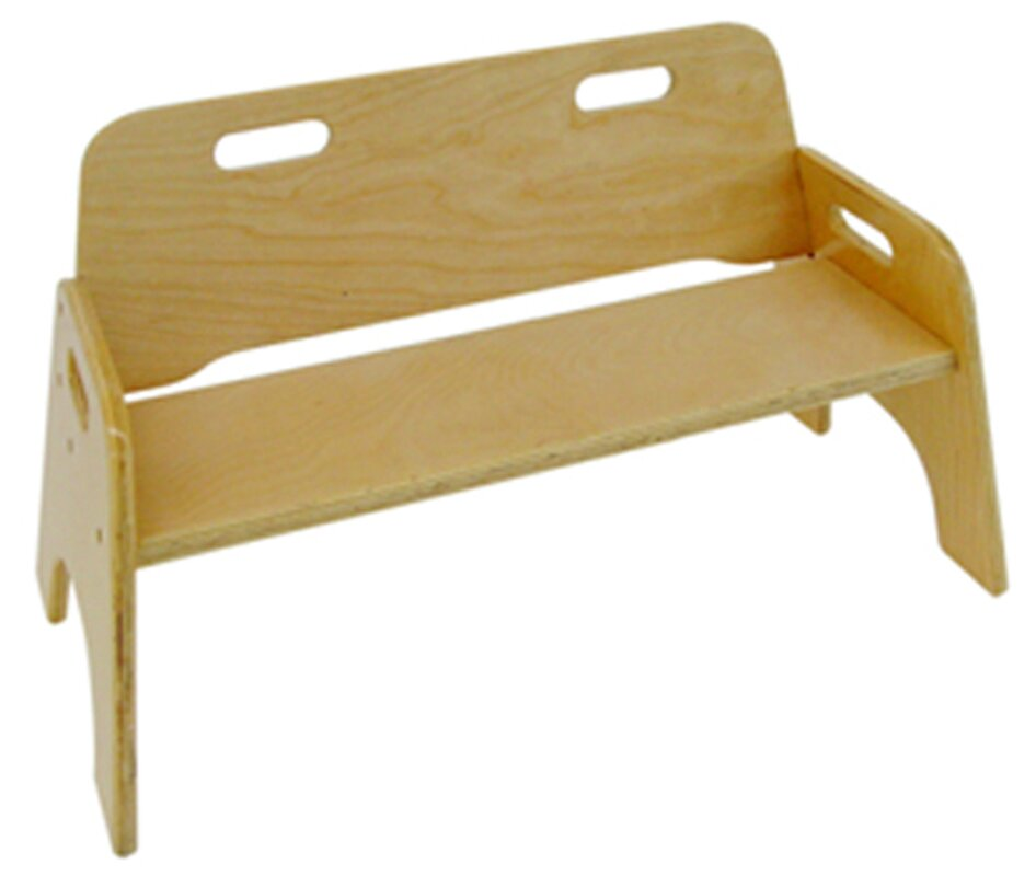 Stackable Two Seat Kids Bench