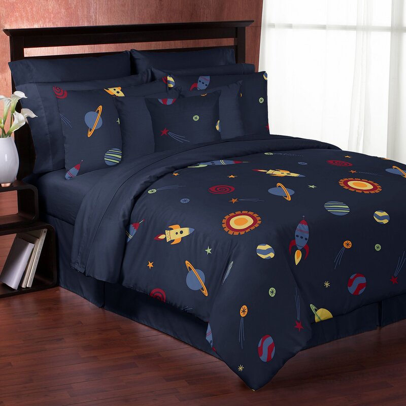 space galaxy comforter set - Space Bedding