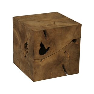 Superior Teak Root Cube End Table