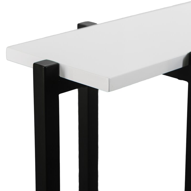 Jeske Contemporary Narrow Console Table