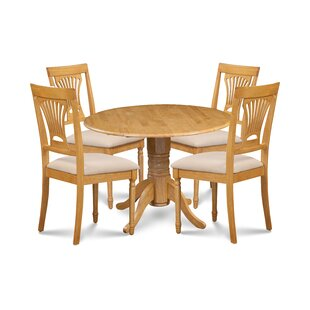 Almendarez 5 Piece Drop Leaf Breakfast Nook Dining Set