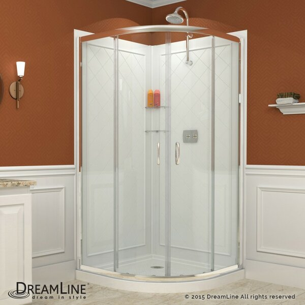Bold, Neo Round Frameless Sliding Shower Enclosure