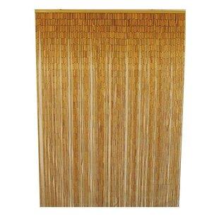 Porter Bamboo Slat Single Curtain Panel